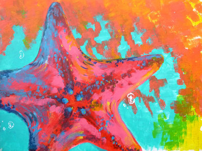 Starfish Mixed Media